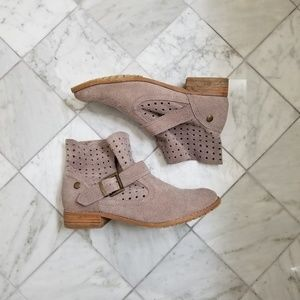 Suede Tan Slouchy Booties